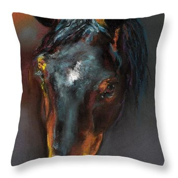 Vinnie Mustang Love Throw Pillow