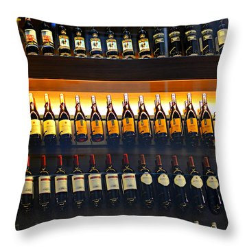 Vino Throw Pillow by Laura Fasulo