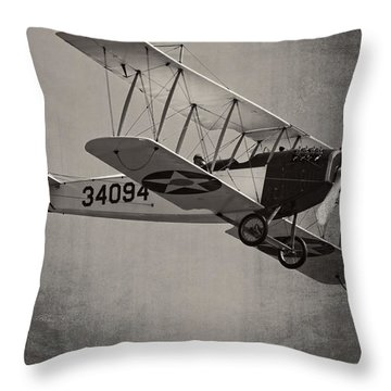 Vintage 1917 Curtiss Jn-4d Jenny Flying  Throw Pillow