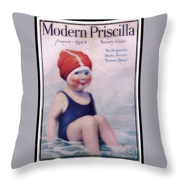 Vintage 1924 - Modern Priscilla Throw Pillow