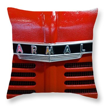 Vintage 1947 Farmall Tractor Throw Pillow