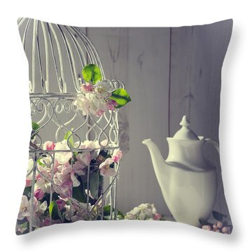 Vintage Afternoon Tea Throw Pillow