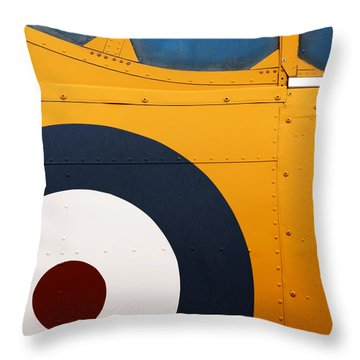 Vintage Airplane Abstract Design Throw Pillow