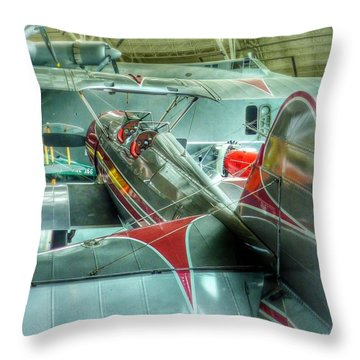 Vintage Airplane Comparison Throw Pillow