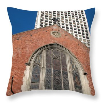 Vintage And Modern Throw Pillow by Connie Fox