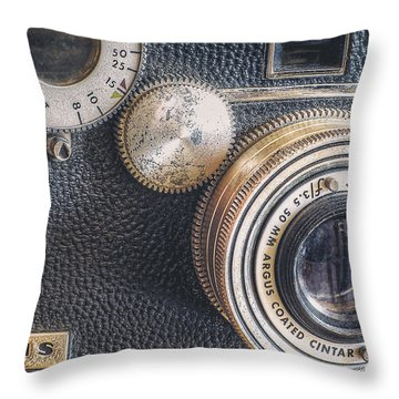 Vintage Argus C3 35mm Film Camera Throw Pillow