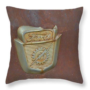 Vintage Badge Throw Pillow