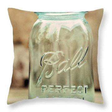 Vintage Ball Mason  Throw Pillow