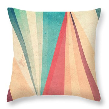 Vintage Beach Throw Pillow