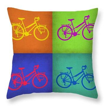 Vintage Bicycle Pop Art 1 Throw Pillow