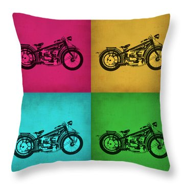 Vintage Bike Pop Art 1 Throw Pillow
