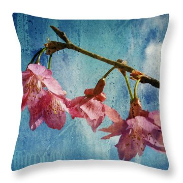 Vintage Blossoms Throw Pillow by Carla Parris