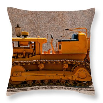 Vintage Bulldozer Throw Pillow