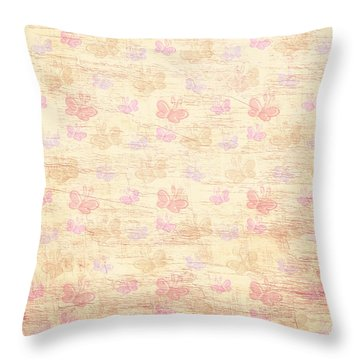 Vintage Butterflies Throw Pillow