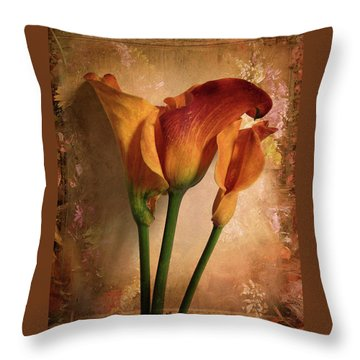 Throw Pillow featuring the photograph Vintage Calla Lily by Jessica Jenney