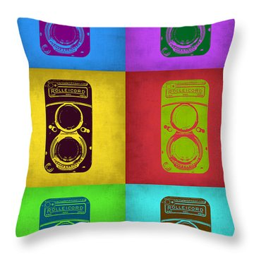 Vintage Camera Pop Art 2 Throw Pillow