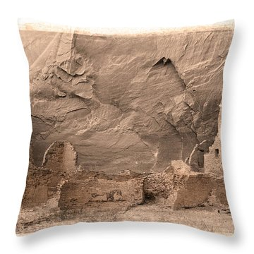 Throw Pillow featuring the photograph Vintage Canyon De Chelly by Jerry Fornarotto