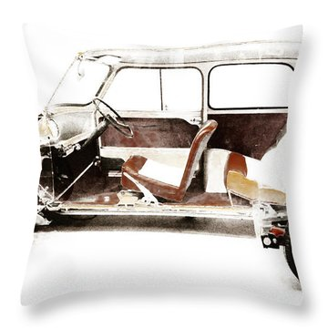 Vintage Car  Throw Pillow by Gina Dsgn