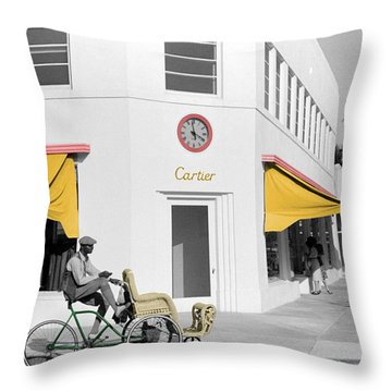 Vintage Cartier Store Throw Pillow