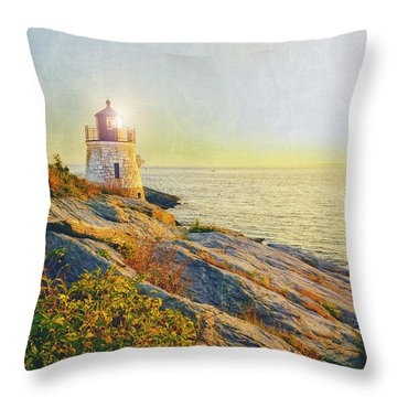 Vintage Castle Hill Light Throw Pillow