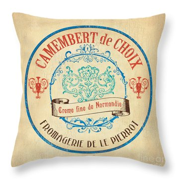 Vintage Cheese Label 4 Throw Pillow