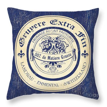 Vintage Cheese Label 5 Throw Pillow