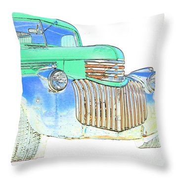 Vintage Chevrolet Pickup 2 Throw Pillow by Betty LaRue