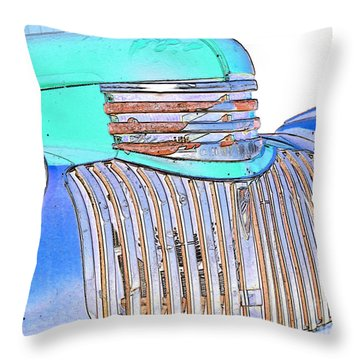 Vintage Chevrolet Pickup 3 Throw Pillow by Betty LaRue