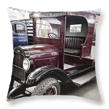 Vintage Chevrolet Pickup Truck Throw Pillow by Douglas Barnard