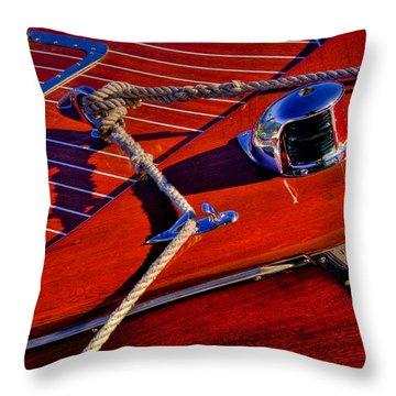 Vintage Chris Craft Boat Throw Pillow