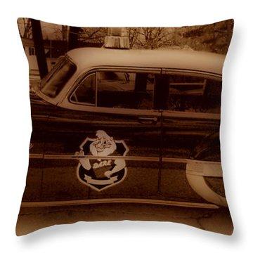 Vintage Classic D.a.r.e. Police Car Throw Pillow by Thomas  MacPherson Jr