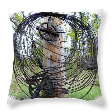 Vintage Clothesline Throw Pillow by Will Borden