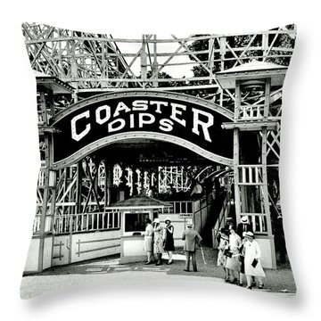 Vintage Coaster Throw Pillow by Benjamin Yeager