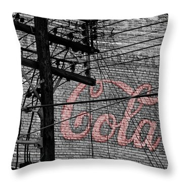 Vintage Coca Cola Sign 4b Throw Pillow by Andrew Fare