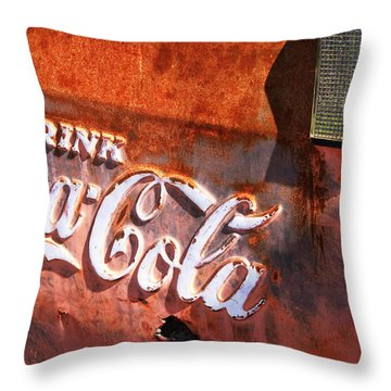 Throw Pillow featuring the photograph Vintage Coca Cola by Steven Bateson