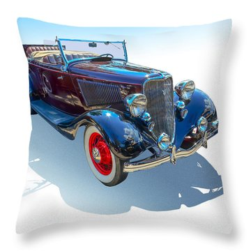 Throw Pillow featuring the photograph Vintage Convertible by Gianfranco Weiss