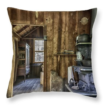 Vintage Cracker Kitchen Throw Pillow by Lynn Palmer