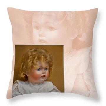 Vintage Doll Beauty Art Prints Throw Pillow