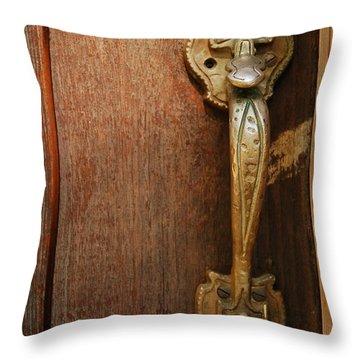 Vintage Door Handle Throw Pillow