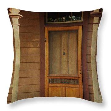 Vintage Doorway Throw Pillow