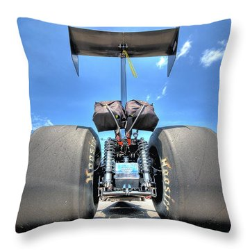 Throw Pillow featuring the photograph Vintage Drag Racer by Gianfranco Weiss