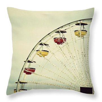 Vintage Ferris Wheel Throw Pillow