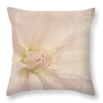 Vintage Flower Art - A Beautiful Place Throw Pillow