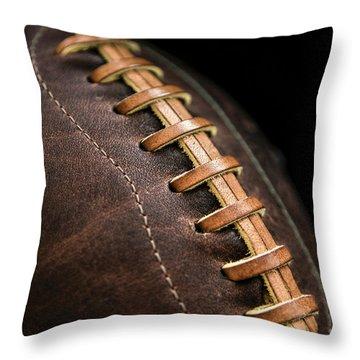 Vintage Football Throw Pillow