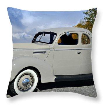 Vintage Ford Throw Pillow by Susan Leggett