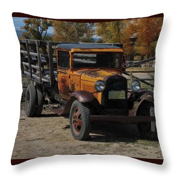 Vintage Ford Truck 2 Throw Pillow