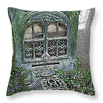 Vintage Garden Grate Throw Pillow