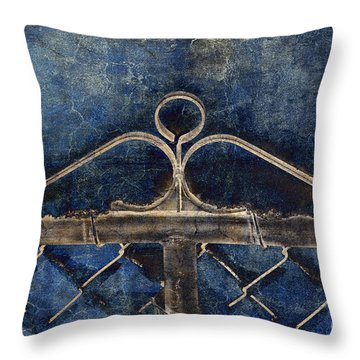 Vintage Gate - Fence - Chain Link - Texture - Abstract Throw Pillow by Andee Design