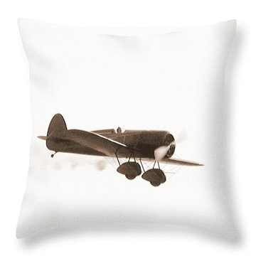 Vintage Throw Pillow by George Mount