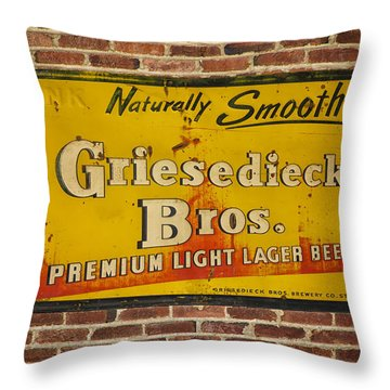 Vintage Griesedieck Bros Beer Dsc07192 Throw Pillow